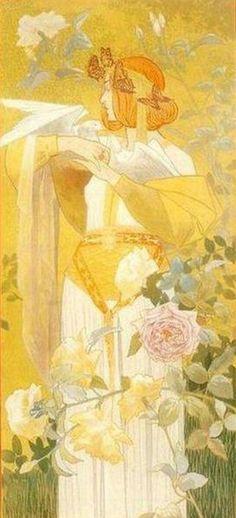 by Alexandre de Riquer (Spanish, 1856–1920). Art Nouveau painter