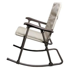 Comfort Folding Rocker Chair Durable Tubular Steel Frame Patio Yard Relax Seat #FoldingRocker