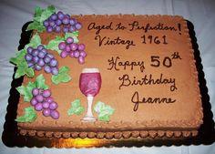 unique crafts | 50th Birthday cake by C-MAC | Cake Decorating Ideas