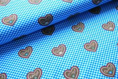 Weiteres - Reststück 0,5 m Jersey Herzilein dunkelblau - ein Designerstück von JoelJoel-Material bei DaWanda