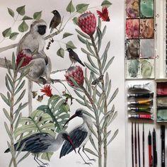 "Georgina Taylor (@__jorj__) on Instagram: ""A2 watercolour commission @micaelakarina #watercolor #watercolour #winsorandnewton #art #painting…"""