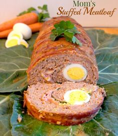 This classic comfort food just turned into a gourmet meal with my Mom's {Stuffed Meatloaf}! This incredible recipe that my mom created was inspired by my grandmother and a Sicilian style meatloaf recipe.  Even if meatloaf isn't your favorite meal…this one may have you having second thoughts!My grandmother was famous for her creative cooking. She …