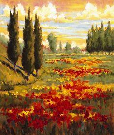 """Tuscany In Bloom I"" -  by JM Steele"