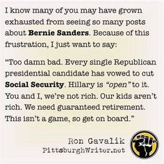 Social Security shouldn't be on the table! Not today or tomorrow or ever.