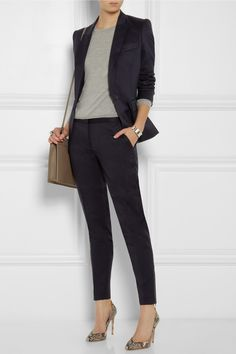 Stella McCartney | Ingrid wool-twill blazer | NET-A-PORTER.COM Business Outfit Frau, Business Attire, Business Outfits, Office Outfits, Mode Outfits, Business Fashion, Casual Outfits, Fashion Outfits, Womens Fashion
