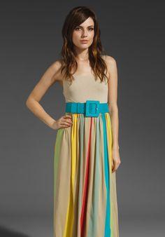 Alice + Olivia Wade Tank Maxi Dress with Belt