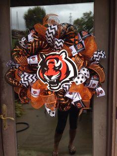 Cincinnati bengals football deco mesh wreath  on Etsy, $70.00