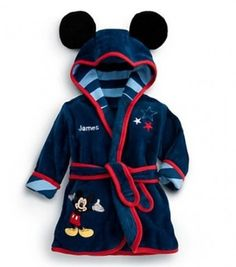 shopping online for a smart dark blue designer Mickey Mouse bathrobe for  kids. Girl Outfits 160dff6e3
