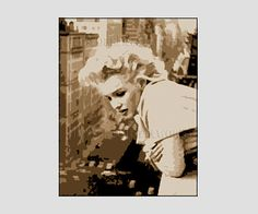 Marilyn Monroe Pattern Cross Stitch Pattern by NewYorkNeedleworks, $8.50