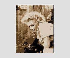Marilyn Monroe Pattern Cross Stitch Pattern by NewYorkNeedleworks, $8.50