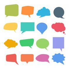 Set Of Colorful Quote Or Speech Bubbles Polaroid Picture Frame, Polaroid Pictures, Picture Frames, Dialogue Bubble, Bubble Quotes, Color Quotes, Vector Free, Bubbles, Clip Art