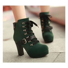 Fashion women high-heeled martin boots SE4844 ❤ liked on Polyvore featuring shoes, high heeled footwear and high heel shoes