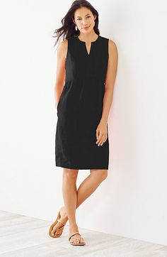 linen Empire-waist dress