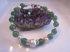 Genuine Emerald Luxe Energy Bracelet with by EtherealEnergy, $125.00