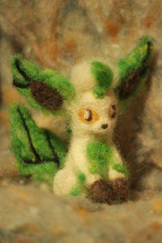 Leafeon Eeveelution Pokemon Inspired Needle by RaeosunshinePets, $30.00