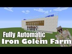 Fully Automatic Iron Golem Farm Tutorial - Minecraft 1.8 - YouTube