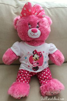 Build-a-Bear has released a minnie mouse bear and LOTS of minnie accessories. So perfect for any little Disney fan!