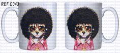 www.facebook.com/SnooPersonalizados CANECA DOG E CAT CELEBRIDADES imagem meramente ilustrativa  Caneca de Cerâmica Branca de Primeira Linha (Classe A ) capacidade: 325 ml