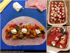 Schinken-Canneloni mit Käse
