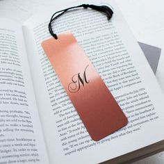 Personalised Brush Copper Metal Bookmark - desk accessories