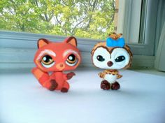 LPS : Red Panda and Barn Owl by Marienoire. Oh my gosh this is so cute i think I will make a LPS  barn owl!!
