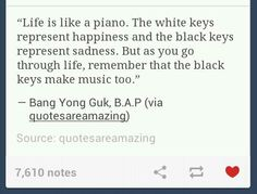 I think Yongguk is a very inspiring person. I love him, I love his voice.