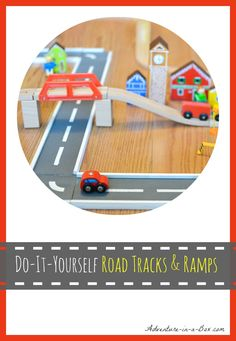 DIY Wooden Road Tracks and Ramps: how to make a simple set of wooden road tracks and ramps for hours of entertainment Diy Handmade Toys, Diy Toys, Car Tracks For Kids, Matchbox Autos, Diy For Kids, Crafts For Kids, Woodworking Projects, Diy Projects, Woodworking Jointer
