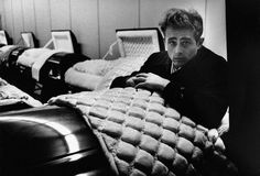 The Death of James Dean-This photograph was taken by Dennis Stock.  The casket was located in the very funeral parlor that James Dean himself would end up, just a few months this photograph was taken.