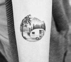 Camp life tattoo by Amanda Piejak
