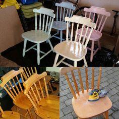 Projekt køkkenstole skrider frem. De 3 af dem skal lige have en gang maling mere i morgen og så er de klar. Er pjattet med dem! #stol#male#kreativ#gørdetselv#diy#kitchen#chair by fibaya Fest, By, Cozy House, Dining Chairs, Instagram Posts, Furniture, Home Decor, Creative, Decoration Home