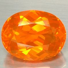 Faceted Mexican Fire Opal