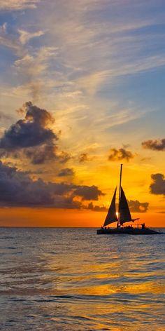 Beautiful British Virgin Islands Sunset