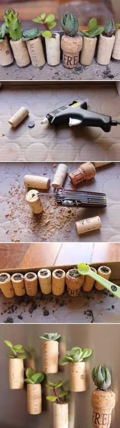 DIY Wine Cork Garden DIY Projects