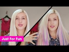 Pastel Unicorn Hair Tutorial with Evelina Barry | Garnier Color Styler - YouTube