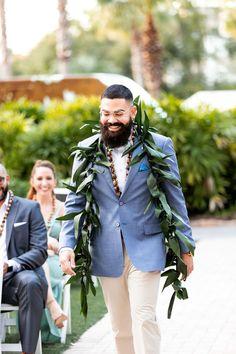 groom walking up aisle for wedding ceremony at Paradise Cove #paradisecove #orlandowedding #weddingday #groom Wedding Groom, Wedding Attire, Wedding Ceremony, Wedding Day, Groom And Groomsmen Looks, Paradise Cove, Orlando Wedding, Groom Attire, Suit And Tie