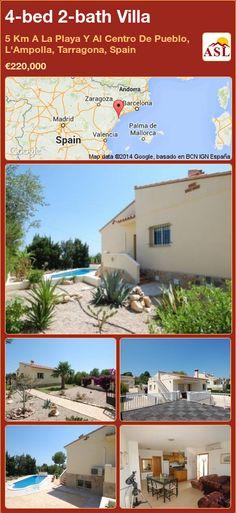4-bed 2-bath Villa in 5 Km A La Playa Y Al Centro De Pueblo, L'Ampolla, Tarragona, Spain ►€220,000 #PropertyForSaleInSpain