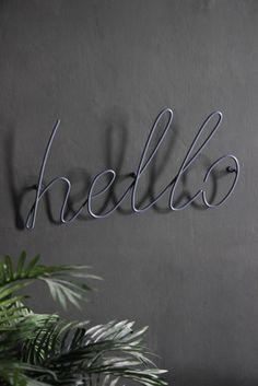 'Hello' Coat Rack - Grey