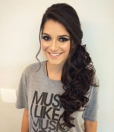 36 Perfect Hairstyles for Long Thin Hair (Trending for - Style My Hairs Face Shape Hairstyles, Side Hairstyles, Straight Hairstyles, Braided Hairstyles, Wedding Hairstyles, Bridal Hairstyle, Style Hairstyle, Elegant Hairstyles, Hairstyle Ideas
