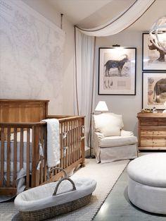 rh tampa: the gallery at international plaza                                                                                                                                                                                 More Safari Nursery, Baby Nursery Decor, Nursery Room, Map Nursery, Safari Bedroom, Travel Nursery, Nursery Ideas, Baby Bedroom, Baby Boy Rooms