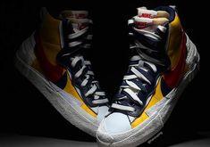 Sacai x Nike Blazer Cool Vans Shoes, Shoes Sneakers, Men's Shoes, Designer Sneakers Mens, Fashion Shoes, Mens Fashion, Hype Shoes, Basketball Shoes, Casual Shoes