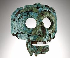 Mosaic mask of Quetzalcoatl. Aztec/Mixtec, 15th-16th century AD. From Mexico.