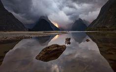 Rainbow Serpent   Milford Sound   New Zealand   Photo By Darren J Bennett