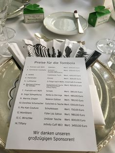 The list of sponsors listed with their donations