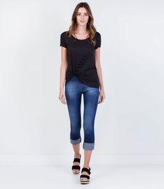 Calça Cigarrete Cintura Alta em Jeans - Lojas Renner