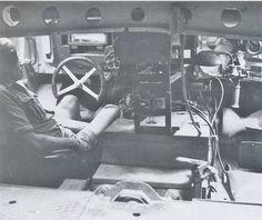Inside Tiger 1 tank.