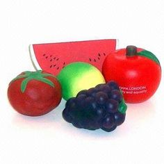 Assorted PU Foam Stress Balls Availbel in Fruit Designs