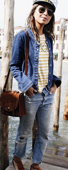 #sincerelyjules #spring #summer #besties | Nautical Vibes Casual Outfit