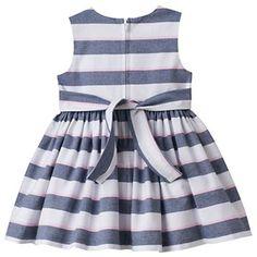 Baby Girl Bonnie Jean Striped Rosette Dress