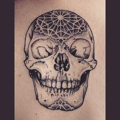 Skull for Mark  #blackworkerssubmission