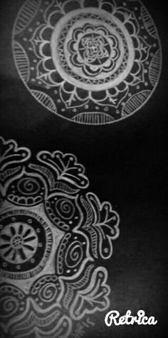 Mandala's art by me..